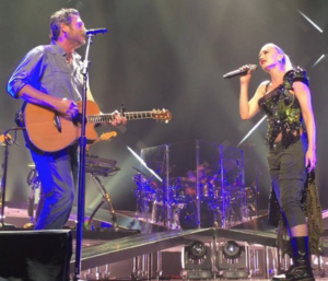 Go Ahead and Break My Heart - Shelton and Stefani performing the song during the latter's This Is What the Truth Feels Like Tour in 2016.