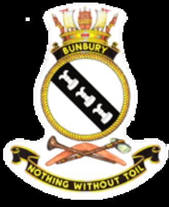 HMAS Bunbury (J241) - Image: HMAS bunbury crest