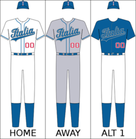 Italy's national baseball uniform