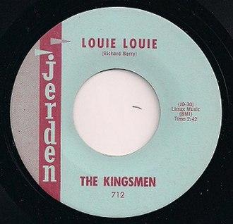 Louie Louie - Image: Jerden 712 Label