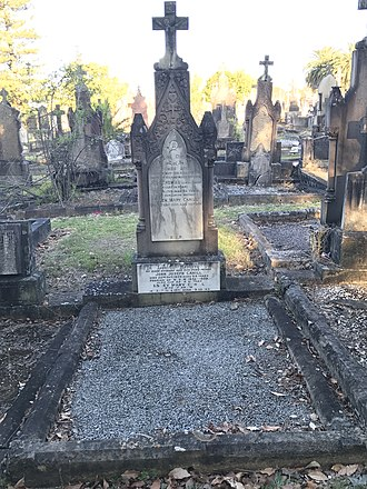 Joseph Cahill - Family grave of Cahill at Rookwood Cemetery.
