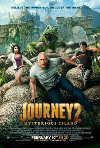 Journey 2: The Mysterious Island - Theatrical release poster