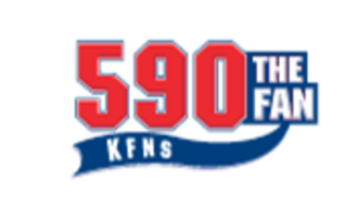 "KFNS (AM) - KFNS' logo as ""590 The Fan"", used from 1993 to 2013. A similar logo would be utilized upon the format's relaunch in late 2015 until September 2016."