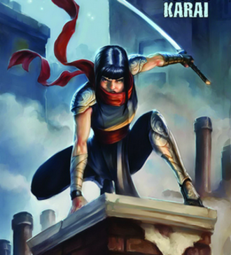 Karai (Teenage Mutant Ninja Turtles) - The IDW Publishing comic series version of Karai (art by Tyler Walpole)
