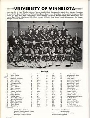 John Mariucci -  Mariucci's 1961 Gopher Hockey Team with Lou Nanne and Larry Smith