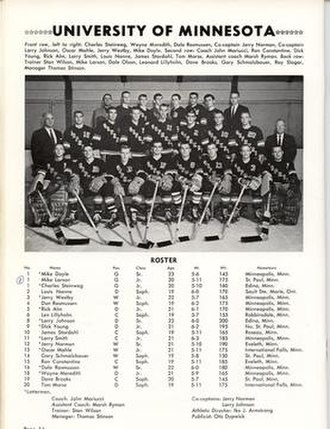 Lou Nanne - The 1961 Gopher Hockey Team - playing for John Mariucci and with Larry Smith.