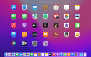 Launchpad (macOS) - Image: Launchpad on OS X El Capitan