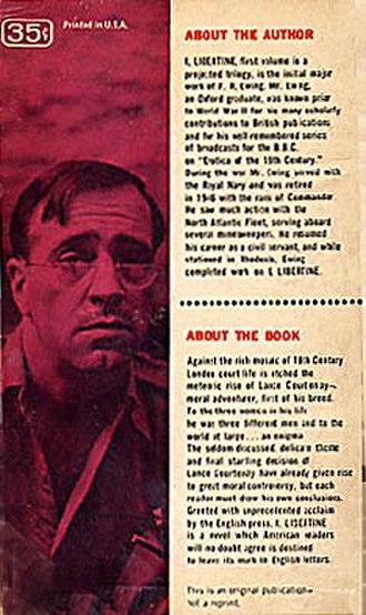 Jean Shepherd - Jean Shepherd posed as Frederick R. Ewing on the back cover of Ballantine's I, Libertine (1956).