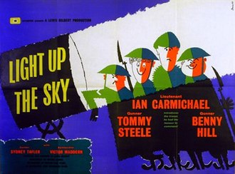 Light Up the Sky! (film) - British quad poster by Stevens