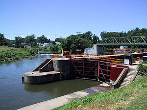 New York State Canal System - Lock 27 in Lyons, New York