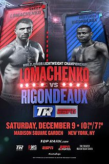 Vasyl Lomachenko vs. Guillermo Rigondeaux Boxing competition