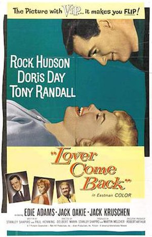 Lover Come Back (1961 film) - Theatrical release poster