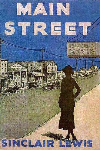 Main Street (novel) - Image: Main Street Novel