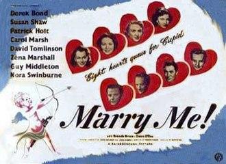 Marry Me! (1949 film) - Original British cinema poster