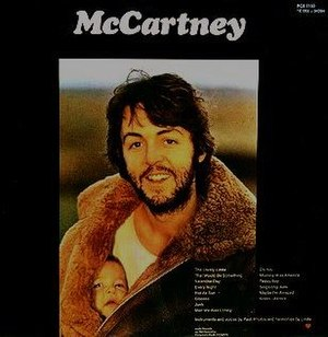 McCartney (album) - Back cover of the McCartney album; photo by Linda McCartney