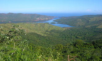 Bartolomé de las Casas - View over the landscape of Mochima National Park in Venezuela, close to the original location of Las Casas's colony at Cumaná