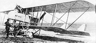 History of the Serbian Air Force - Maurice Farman MF.11 biplane 1916 at Thessaloniki front line