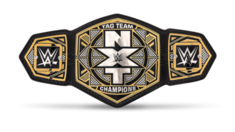 NXT Tag Team Championship - The NXT Tag Team Championship belt with default side plates  (2017–present)