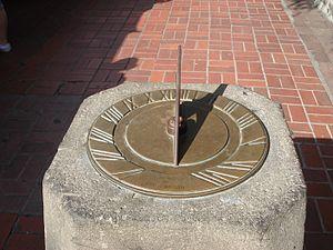 Olvera Street - Sundial at Olvera Street