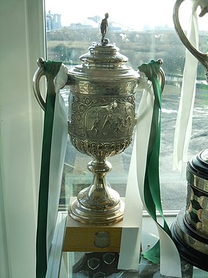 Northwich Victoria F.C. - The original Cheshire Football Association Challenge Cup, which was presented to Northwich Victoria in 1885 following their success in the competition for 6 consecutive seasons.