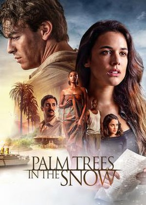 Palm Trees in the Snow - Poster