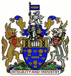 County Borough of Salford - Image: Salford cbc arms