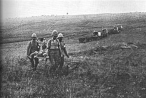 Medical treatment during the Second Boer War - Recovery paramedics in the Boer War