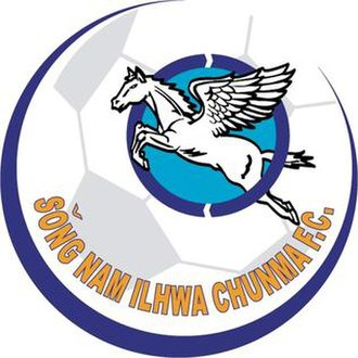 Seongnam FC - The inaugural crest of Seongnam Ilhwa Chunma in 2000. The name of Seongnam followed McCune–Reischauer romanization.