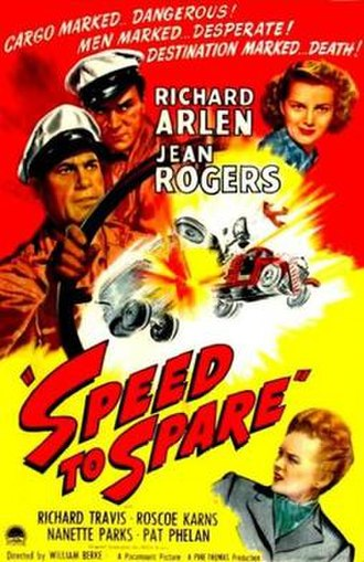 Speed to Spare - Theatrical release poster
