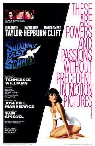 Suddenly, Last Summer (film) - Theatrical release poster