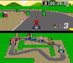 Super Mario Kart - Image: Super Mario Kart screen shot