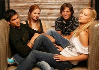 The O.C. (season 2) - From left to right: New additions to the cast: D.J., Lindsay, Zach and Alex.