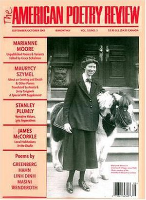 The American Poetry Review - September/October 2003 cover