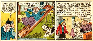 Cap Stubbs and Tippie - Edwina Dumm drew this panel sequence for Cap Stubbs and Tippie in 1945.