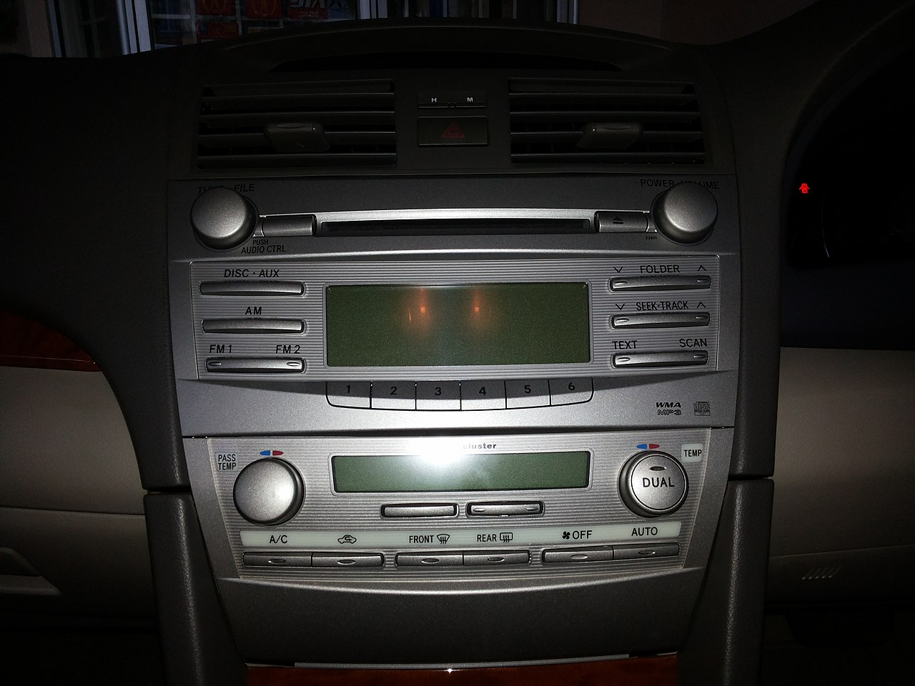 File:Toyota Camry Factory Integrated (In-Dash) Head Unit jpg