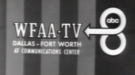 Early logos and station IDs used by WFAA.  It is unclear exactly when the first logo was used, but it was likely in the late 1950s to early 1960s.  The second logo was likely used sometime in the 1960s.
