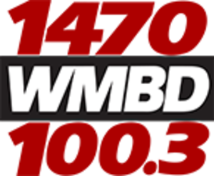 WMBD (AM) - Image: WMBD 1470 100.3 logo