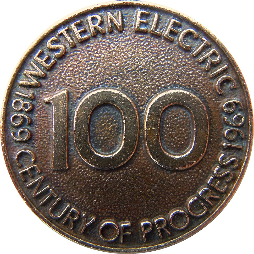 Western Electric 1969 medallion - century of progress