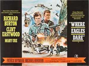 Where Eagles Dare - UK quad crown release poster by Howard Terpning