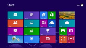 Start menu - The Start screen in Windows 8