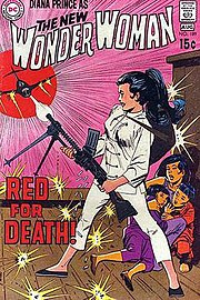 Wonder Woman #189 (Aug. 1970): By this era, Wonder Woman had more in common with Emma Peel than superheroes. Cover art by Mike Sekowsky & Dick Giordano.