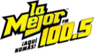 XHBCC-FM - Image: XHBCC lamejor 100.5fm logo