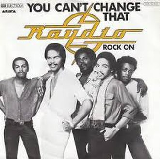 You Can't Change That - Image: You Can't Change That Raydio