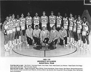 1982–83 Illinois Fighting Illini men's basketball team - Image: 1982–83 Illinois Fighting Illini men's basketball team