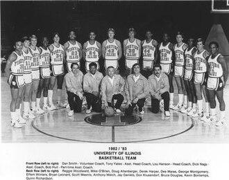 1982–83 Illinois Fighting Illini men's basketball team - Image: 1982–83 Illinois Fighting Illini men's basketball team