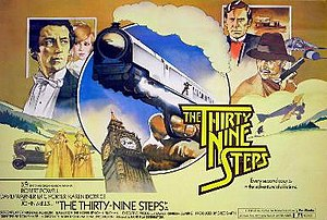 The Thirty Nine Steps (1978 film) - Original British cinema poster