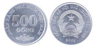 Vietnamese đồng - Image: 500 dong