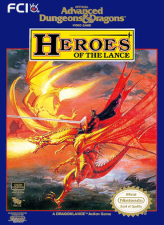 Advanced Dungeons & Dragons: Heroes of the Lance - NES box art