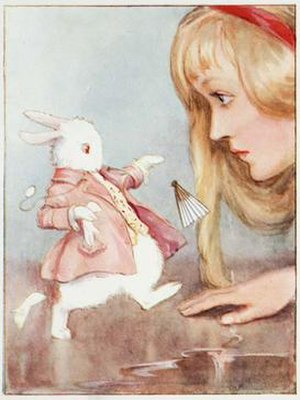 White Rabbit - Alice meeting the Rabbit