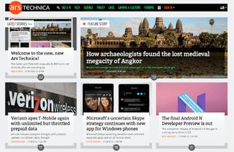 Ars Technica - Image: Ars Technica screenshot